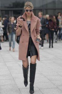 Dusty rose coat