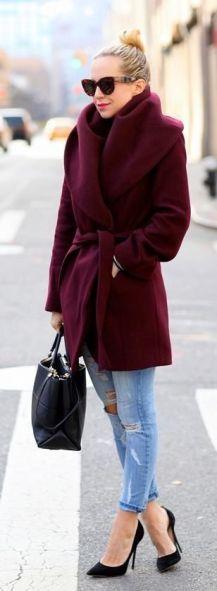 Oxblood coat