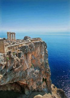 Temple of Poseidon, God of the Sea, at Cape Sounion south of Athens