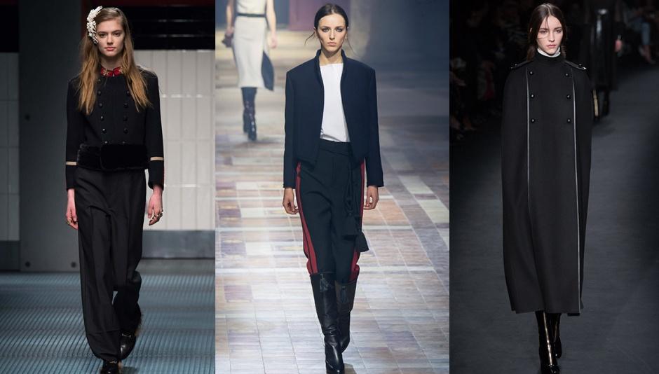 Gucci, Lanvin and Valentino