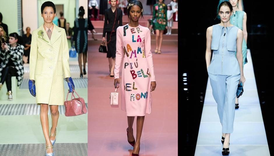 Prada, Dolce & Gabbana and Giorgio Armani