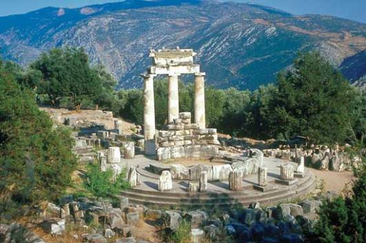 The Tholos temple - Delphi, Greece