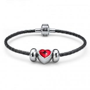 braccialetto-close-heart-nero-rosso