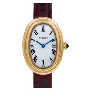 Cartier Baignoire 18k White dial 22mm Manual watch