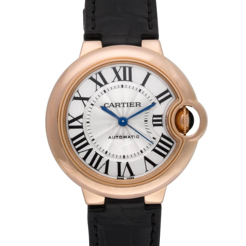 Cartier Ballon Bleu W6920097 18k rose gold Silver dial 33mm Automatic watch