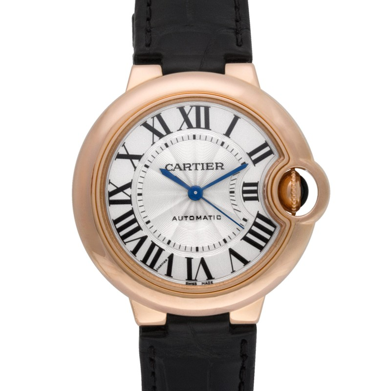 Cartier Ballon Bleu W6920097 18k rose gold Silver dial 33mm Automatic watch