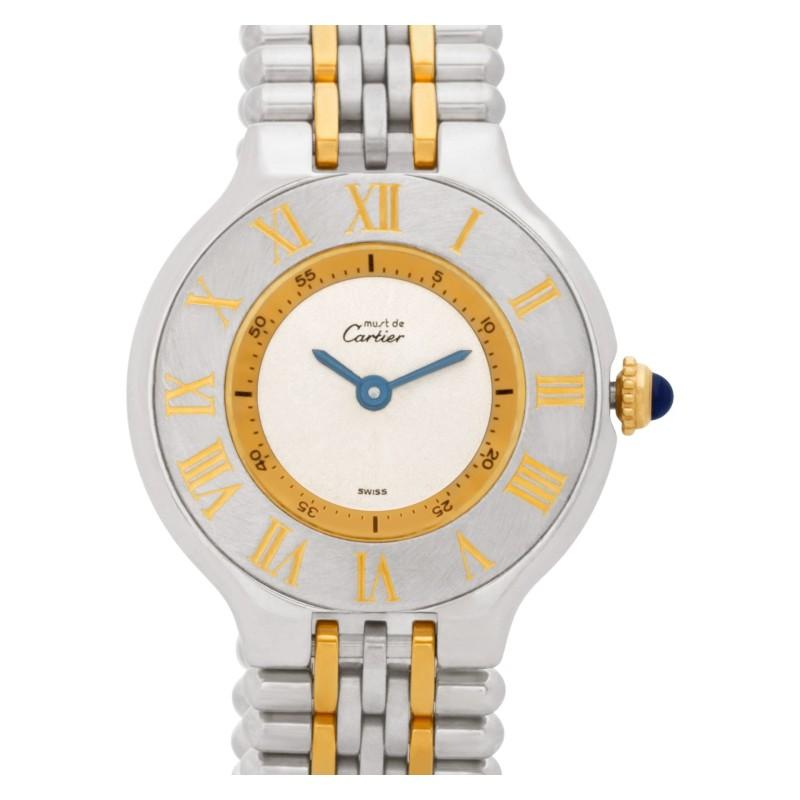 Cartier Must de PL44613 stainless steel Silver dial 28mm Quartz watch