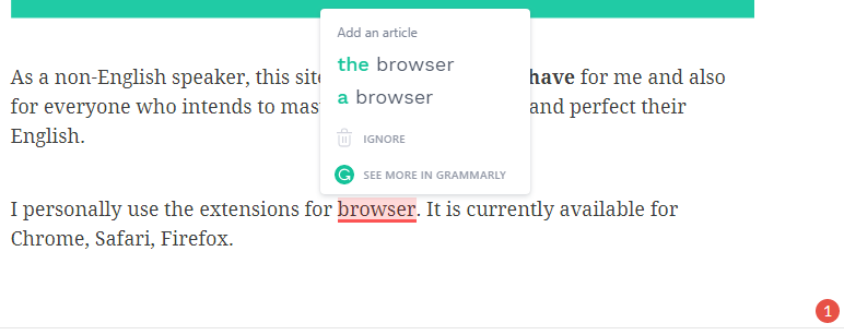 Grammarly review ave mateiu