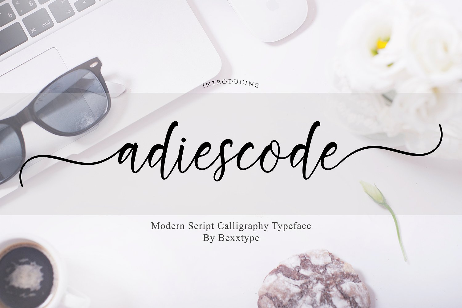 Adiescode Script Adiescode Script a new fresh & modern script with a handmade calligraphy style, decorative characters, and a dancing baseline! So beautiful on the invitation like greeting cards, branding materials, business cards, quotes, posters, and more!! Buy Now $13