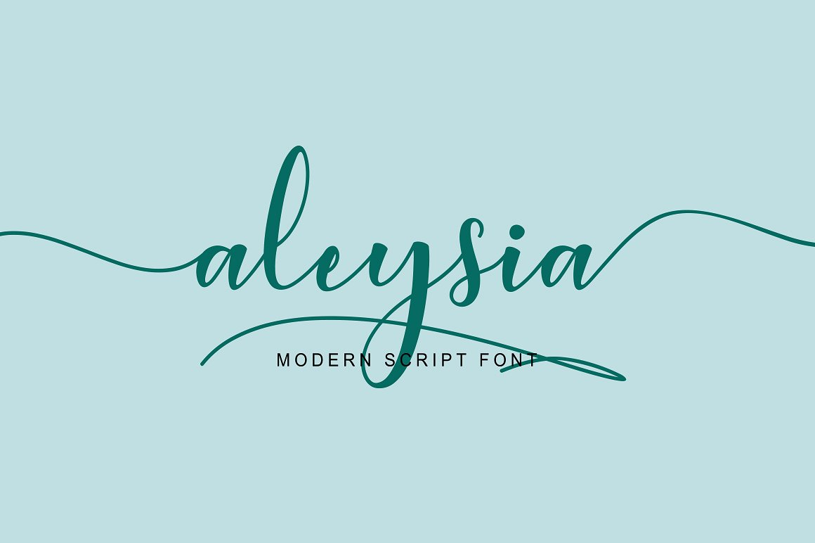 Aleysia Script This is Aleysia Script, simple and easy to create awesome lettering, just type your words and then you will immediately see the great results. Buy Now $12