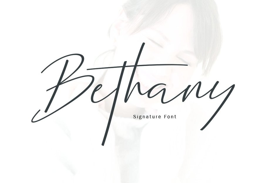 New Bethany Script Bethany Script is a modern calligraphy font with the current handwriting style, this font is perfect for branding, wedding invites, magazines, mugs, business cards, quotes, posters, and more, you can try first if you want to buy this font. Bethany Script is equipped with 315 glyphs. and by having many of these glyphs there will be able to choose the letters according to your likes, lots of variations and options for each letter so you can customize on your design choices. Buy Now $16