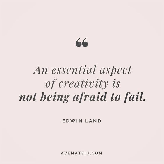 An essential aspect of creativity is not being afraid to fail. Edwin Land Quote 17 😏😎🔝•••#quote #quotes #quoteoftheday #qotd #motivation #inspiration #instaquotes #quotesgram #quotestags #motivational #inspo #motivationalquotes #inspirational #inspirationalquotes #inspirationoftheday #positive #life #succes #blogger #blog #confidence #happy #beautiful #lyrics #instadaily #bestoftheday #quotes #lovequotes #goodvibes