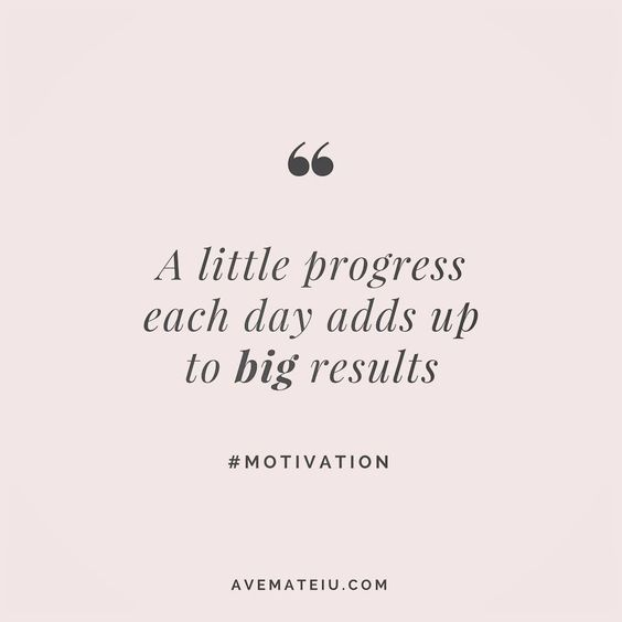 A little progress each day adds up to big results. Quote 4 💪•••#quote #quotes #quoteoftheday #qotd #motivation #inspiration #instaquotes #quotesgram #quotestags #motivational #inspo #motivationalquotes #inspirational #inspirationalquotes #inspirationoftheday #positive #life #succes #blogger #blog #confidence #happy #beautiful #lyrics #instadaily #bestoftheday #pretty #lovequotes #goodvibes