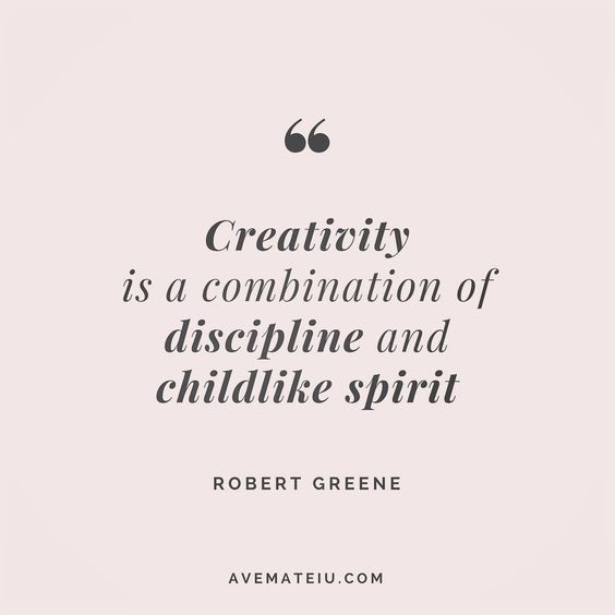 Creativity is a combination of discipline and childlike spirit. Robert Greene Quote 5 💪🔝••• #quote #quotes #quoteoftheday #qotd #motivation #inspiration #instaquotes #quotesgram #quotestags #motivational #inspo #motivationalquotes #inspirational #inspirationalquotes #inspirationoftheday #positive #life #succes #blogger #blog #confidence #happy #beautiful #lyrics #instadaily #bestoftheday #pretty #lovequotes #goodvibes
