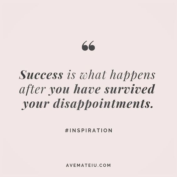 Success is what happens after you have survived your disappointments. #inspiration - beautiful words, deep quotes, happiness quotes, inspirational quotes, leadership quote, life quotes, motivational quotes, positive quotes, success quotes, wisdom quotes
