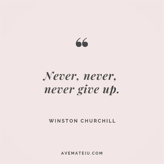Never, never, never give up. - Winston Churchill - beautiful words, deep quotes, happiness quotes, inspirational quotes, leadership quote, life quotes, motivational quotes, positive quotes, success quotes, wisdom quotes