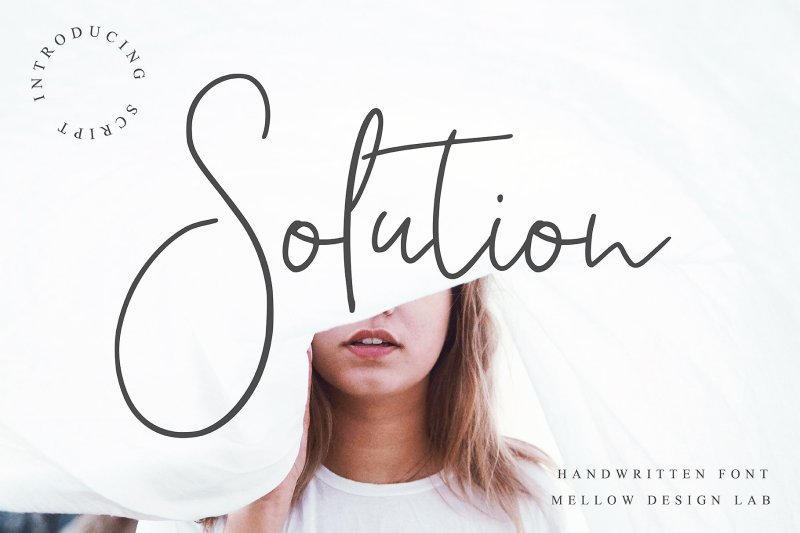 Solution Script This font is especially for you if you need to add tenderness to your project. A font that looks absolutely handwritten and created by hand. Combine it with other fonts and add style to your project. This handwritten font is ideal for branding and decorates your any project. Buy Now $9