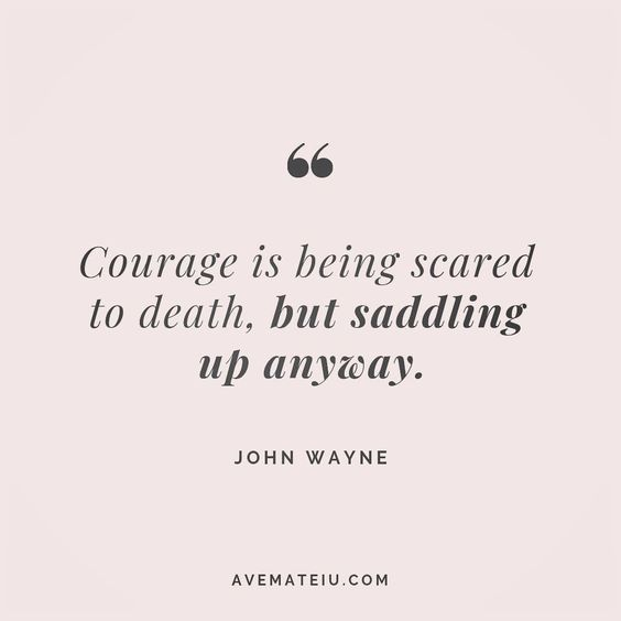 Courage is being scared to death, but saddling up anyway. John Wayne Quote 126 😏😎🔝•••#quote #quotes #quoteoftheday #quotesaboutlife #selfdetermination #entrepreneurquotes #successmindset #quotesgram #quotestags #motivational #wisdomquotes #motivationalquotes #inspirational #inspirationalquotes #inspirationoftheday #goalsetting #entrepreneurlife #successquotes #faithquotes #successfulquotes #confidencequotes #happyquotes #positivequotes #quotestoliveby #instadaily #strengthquotes #encouragemen