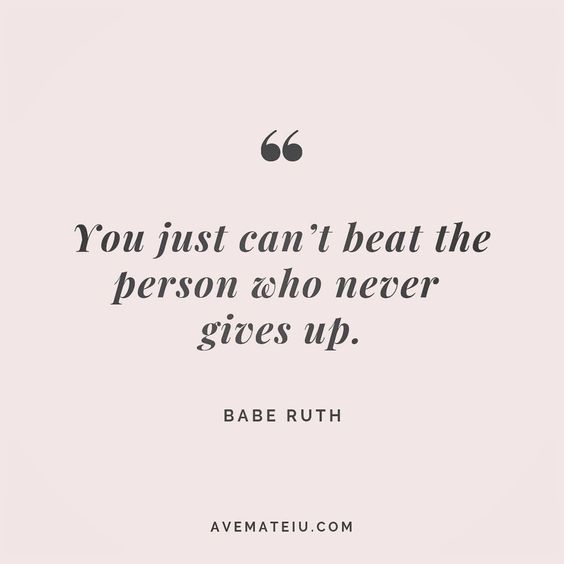 You just can't beat the person who never gives up. Babe Ruth Quote 147 😏😎🔝•••#quote #quotes #quoteoftheday #qotd #motivation #inspiration #instaquotes #quotesgram #quotestags #motivational #inspo #motivationalquotes #inspirational #inspirationalquotes #inspirationoftheday #positive #life #succes #blogger #successquotes #confidence #happy #beautiful #lyrics #instadaily #bestoftheday #quotes #lovequotes #goodvibes