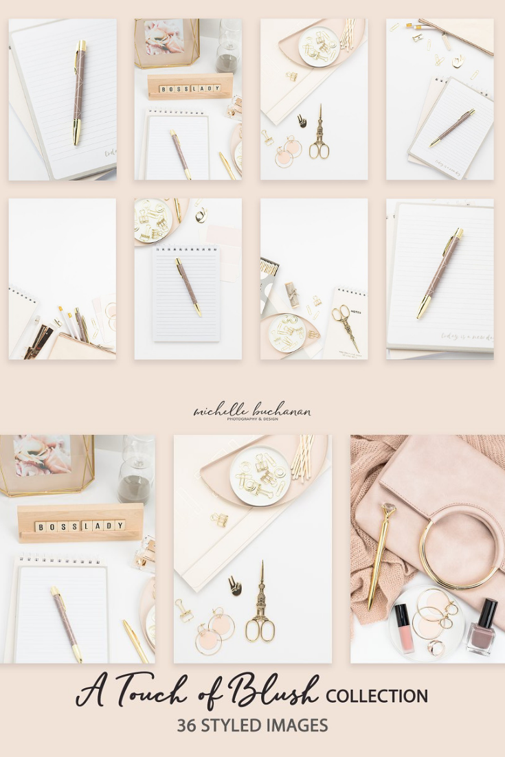 A Touch of Blush Photo Bundle Styled Stock Photo Bundle - Neutral & Blush Tones - 36 Styled Images. Bundle includes: High resolution images - 300 dpi - FLAT jpegs - Files are NOT layered or moveable - digital download. Buy Now $39 - Styled Stock Photos, Flat Lay Styled Stock Photos, Creative Styled Stock Photos, Gold Styled Stock Photos, Fashion, Inspiration Styled Stock Photos, Styled Stock Photography, Business Styled Stock Photography, Desktops Styled Stock Photography