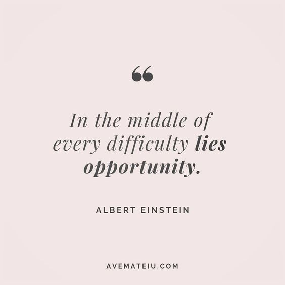 In the middle of every difficulty lies opportunity. Albert Einstein Quote 195 😏😎🔝•••#quote #quotes #quoteoftheday #qotd #motivation #inspiration #instaquotes #quotesgram #quotestags #motivational #inspo #motivationalquotes #inspirational #inspirationalquotes #inspirationoftheday #positive #life #succes #blogger #successquotes #confidence #happy #beautiful #lyrics #instadaily #bestoftheday #quotes #lovequotes #goodvibes