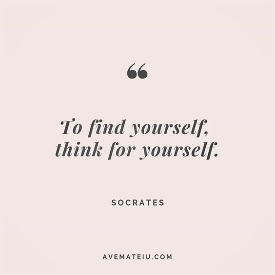 To find yourself, think for yourself. Socrates Quote 210 😏😎🔝 • • • #quote #quotes #quoteoftheday #qotd #motivation #inspiration #instaquotes #quotesgram #quotestags #motivational #inspo #motivationalquotes #inspirational #inspirationalquotes #inspirationoftheday #positive #life #succes #blogger #successquotes #confidence #happy #beautiful #lyrics #instadaily #bestoftheday #quotes #lovequotes #goodvibes