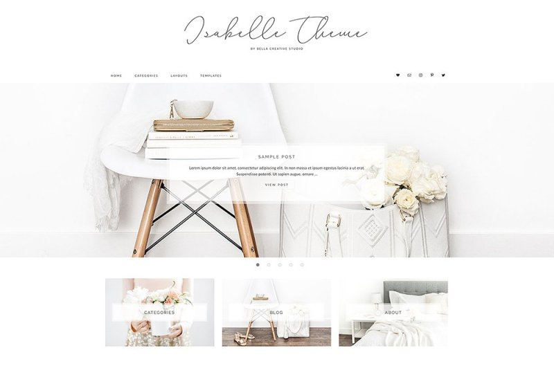 Isabelle - WordPress Theme - Buy Now $35 - WordPress Blog Theme, WordPress Blog Themes, Blogger Templates, Lifestyle WordPress Blog Theme, Minimalist WordPress Blog Theme, Feminine WordPress Blog Theme, Simple WordPress Blog Theme, Business WordPress Theme, Responsive WordPress Theme, Modern WordPress Theme, Elegant WordPress Theme, Magazine WordPress Theme https://avemateiu.com/themes/