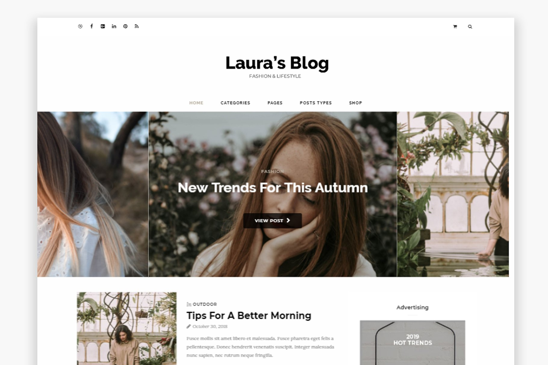 Laura Wordpress Blog Theme - Buy Now $9 - WordPress Blog Theme, WordPress Blog Themes, Blogger Templates, Lifestyle WordPress Blog Theme, Minimalist WordPress Blog Theme, Feminine WordPress Blog Theme, Simple WordPress Blog Theme, Business WordPress Theme, Responsive WordPress Theme, Modern WordPress Theme, Elegant WordPress Theme, Magazine WordPress Theme https://avemateiu.com/themes/