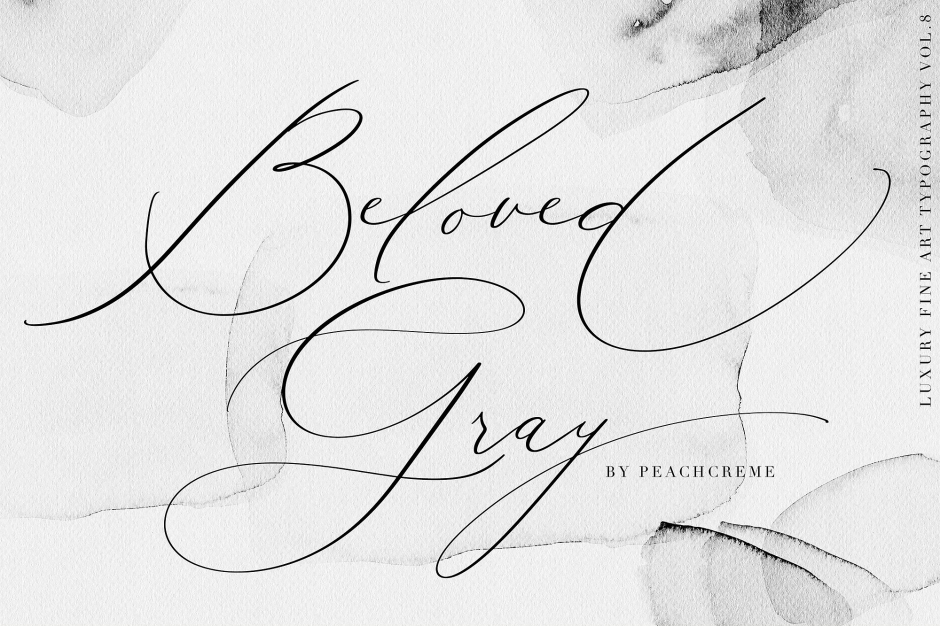 Beloved Gray Fine Art Font - Check out my list with 10 of the BEST Script Fonts from Creative Market for branding your projects in 2019. It is never too late to add charm to your blog! Art, Fonts and Calligraphy, Typography, Handwritten Fonts, Script Fonts, Modern Fonts, Cursive Fonts, Design Fonts, Calligraphy Fonts, Simple Fonts, Elegant Fonts, Professional Fonts, Beautiful Fonts