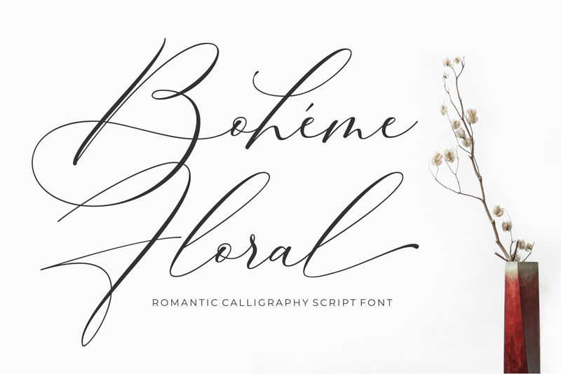 Boheme Floral Script- 10 New Free Calligraphy Fonts - Art, Fonts and Calligraphy, Typography, Handwritten Fonts, Alphabet Fonts, Free Fonts, Script Fonts, Modern Fonts, Cursive Fonts, Design Fonts, Rustic Fonts, Calligraphy Fonts, Simple Fonts, Serif Fonts, Elegant Fonts, Professional Fonts, Beautiful Fonts