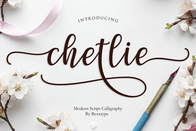 Chetlie Script - 10 New Free Calligraphy Fonts - Art, Fonts and Calligraphy, Typography, Handwritten Fonts, Alphabet Fonts, Free Fonts, Script Fonts, Modern Fonts, Cursive Fonts, Design Fonts, Rustic Fonts, Calligraphy Fonts, Simple Fonts, Serif Fonts, Elegant Fonts, Professional Fonts, Beautiful Fonts