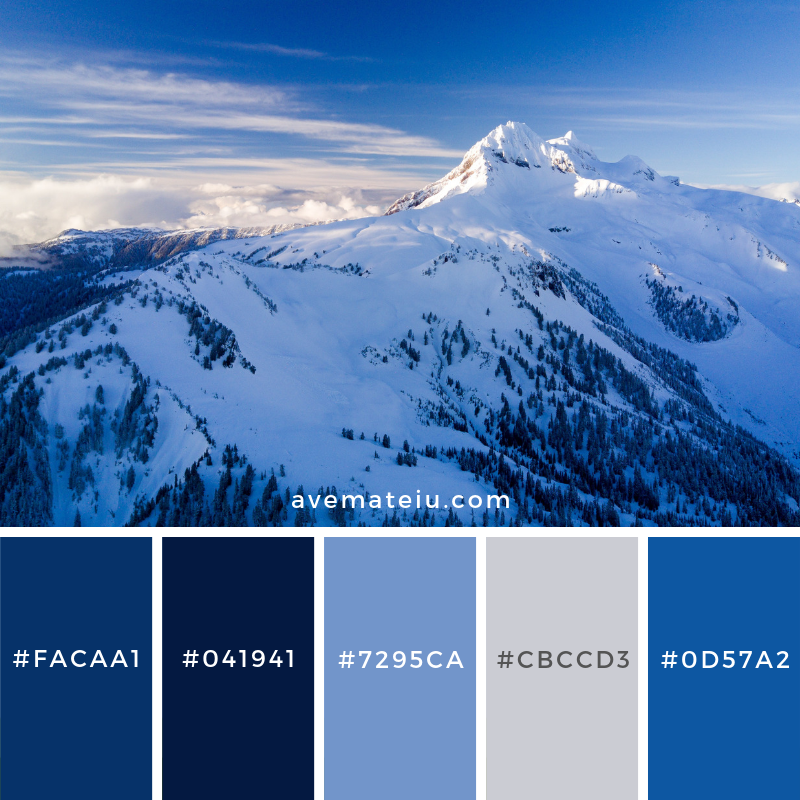 Whistler, Canada Color Palette #174 Color combination, Color pallets, Color palettes, Color scheme, Color inspiration, Colour Palettes, Art, Inspiration, Vintage, Bright, Blue, Warm, Dark, Design, Yellow, Green, Grey, Red, Purple, Rustic, Fall, Autumn, Winter, Christmas 2019, Nature, Spring, Summer, Flowers, Sunset, Sunrise, Pantone https://avemateiu.com/color-palettes/