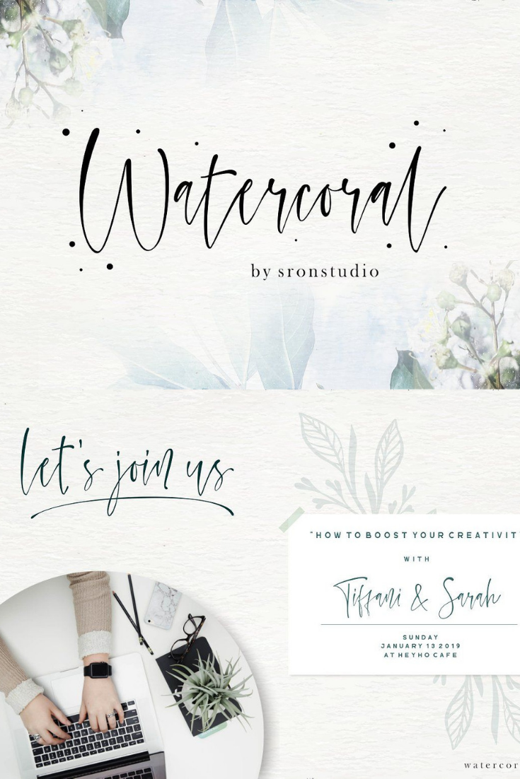 Font Of The Day - January 4, 2019 Watercoral Natural Script Font SHandwritten Fonts, Alphabet Fonts, Free Fonts, Script Fonts, Modern Fonts, Cursive Fonts, Design Fonts, Rustic Fonts, Calligraphy Fonts, Simple Fonts, Typography, Serif Fonts, Elegant Fonts, Professional Fonts, Beautiful Fonts https://avemateiu.com/fonts/ *affiliate