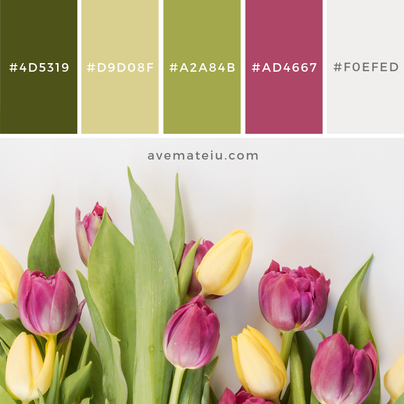 Color Palette #180 Color combination, Color pallets, Color palettes, Color scheme, Color inspiration, Colour Palettes, Art, Inspiration, Vintage, Bright, Blue, Warm, Dark, Design, Yellow, Green, Grey, Red, Purple, Rustic, Fall, Autumn, Winter, Spring 2019, Nature, Spring, Summer, Flowers, Sunset, Sunrise, Pantone https://avemateiu.com/color-palettes/