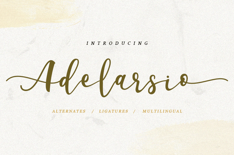 Adelarsio Script Font - Calligraphy Fonts, Script Fonts, Typography Fonts, Typography Logo, Handwritten Fonts, Handwriting, Hand Lettering Drawing, Diy Projects, Diy Stationery, Diy Event, Paper Crafts, Diy Book, Wedding Stationery, Christmas, Holiday, Logo And Identity Design, Book And Magazine Design, Packaging And Label Design, Modern Font