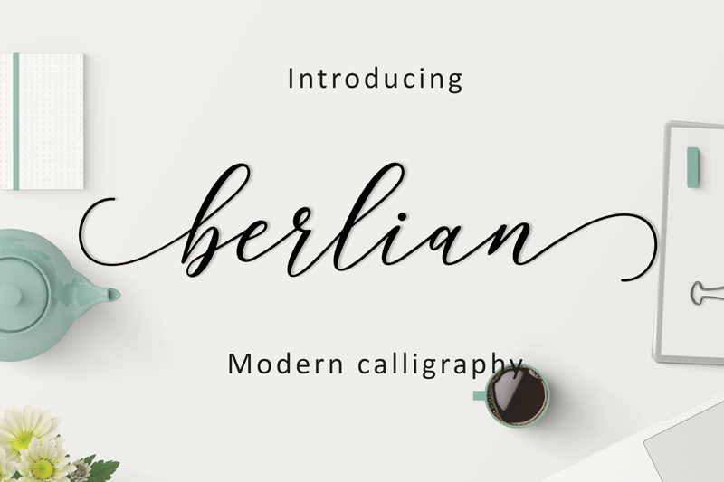Berlian Script Font - Calligraphy Fonts, Script Fonts, Typography Fonts, Typography Logo, Handwritten Fonts, Handwriting, Hand Lettering Drawing, Diy Projects, Diy Stationery, Diy Event, Paper Crafts, Diy Book, Wedding Stationery, Christmas, Holiday, Logo And Identity Design, Book And Magazine Design, Packaging And Label Design, Modern Font