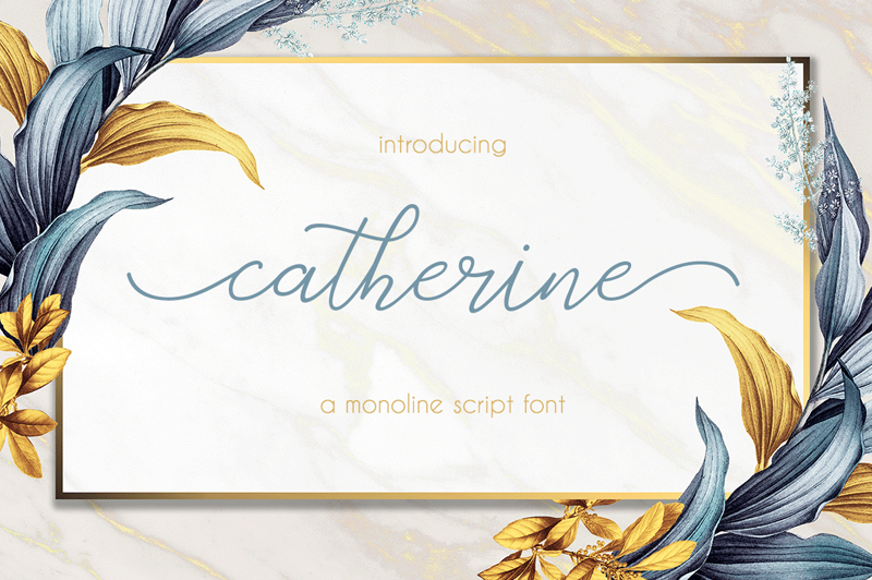 Catherine Script Font - Calligraphy Fonts, Script Fonts, Typography Fonts, Typography Logo, Handwritten Fonts, Handwriting, Hand Lettering Drawing, Diy Projects, Diy Stationery, Diy Event, Paper Crafts, Diy Book, Wedding Stationery, Christmas, Holiday, Logo And Identity Design, Book And Magazine Design, Packaging And Label Design, Modern Font