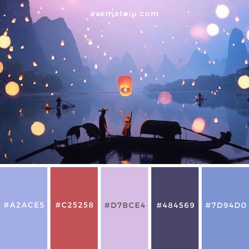 Color Palette #206 - Color combination, Color pallets, Color palettes, Color scheme, Color inspiration, Colour Palettes, Art, Inspiration, Vintage, Bright, Blue, Warm, Dark, Design, Yellow, Green, Grey, Red, Purple, Rustic, Fall, Autumn, Winter, Spring 2019, Nature, Spring, Summer, Flowers, Sunset, Sunrise, Pantone https://avemateiu.com/color-palettes/