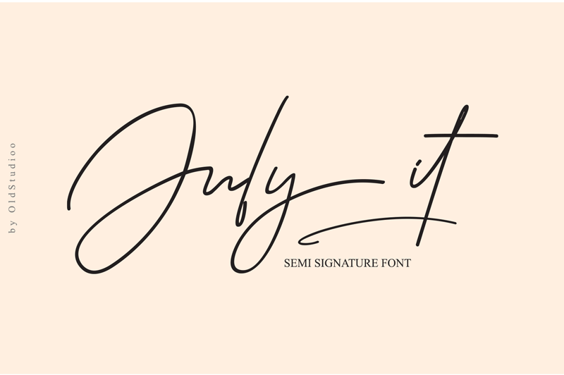 July It Semi Signature Script Font - Calligraphy Fonts, Script Fonts, Typography Fonts, Typography Logo, Handwritten Fonts, Handwriting, Hand Lettering Drawing, Diy Projects, Diy Stationery, Diy Event, Paper Crafts, Diy Book, Wedding Stationery, Christmas, Holiday, Logo And Identity Design, Book And Magazine Design, Packaging And Label Design, Modern Font