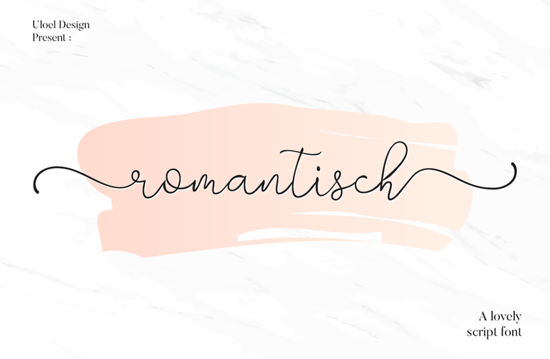 Romantisch Script Font - Calligraphy Fonts, Script Fonts, Typography Fonts, Typography Logo, Handwritten Fonts, Handwriting, Hand Lettering Drawing, Diy Projects, Diy Stationery, Diy Event, Paper Crafts, Diy Book, Wedding Stationery, Christmas, Holiday, Logo And Identity Design, Book And Magazine Design, Packaging And Label Design, Modern Font