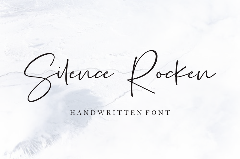 Silence Rocken Script Font - Calligraphy Fonts, Script Fonts, Typography Fonts, Typography Logo, Handwritten Fonts, Handwriting, Hand Lettering Drawing, Diy Projects, Diy Stationery, Diy Event, Paper Crafts, Diy Book, Wedding Stationery, Christmas, Holiday, Logo And Identity Design, Book And Magazine Design, Packaging And Label Design, Modern Font