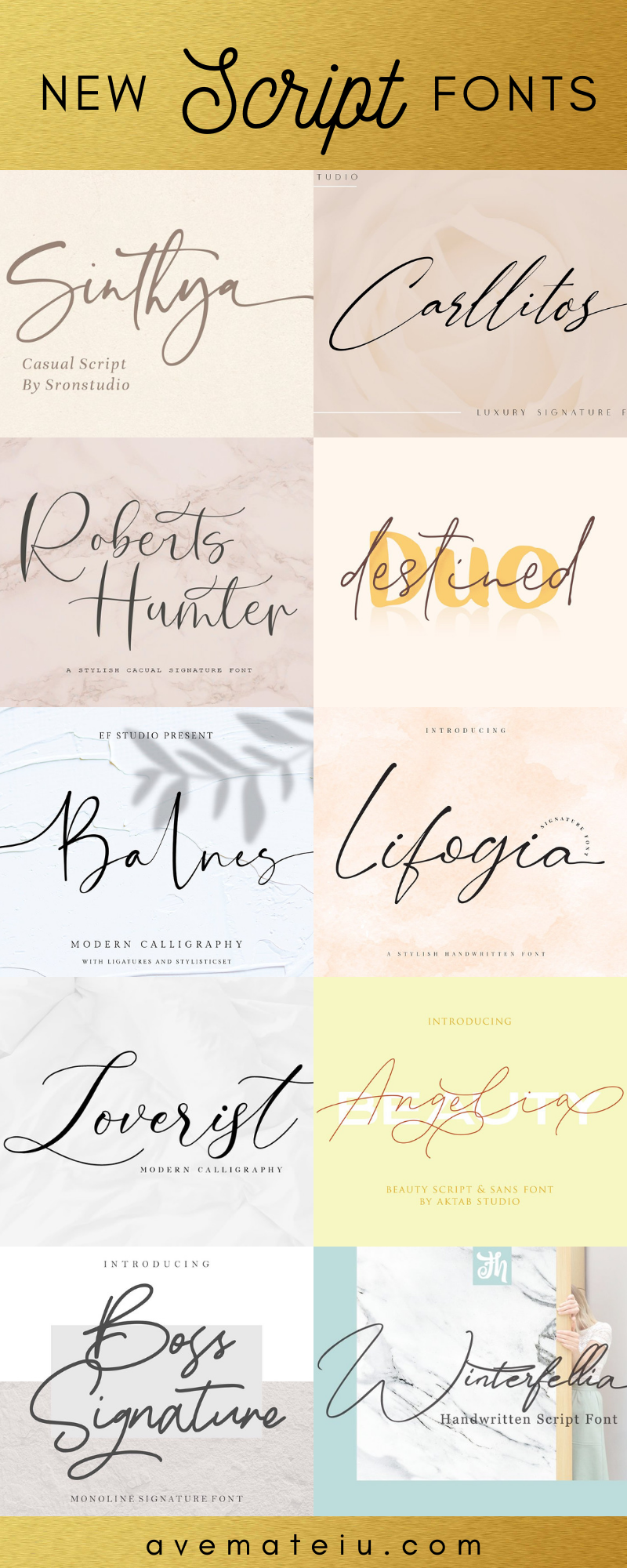 Check out my list with 10 New Hot Script Fonts for branding your projects in 2019. It is never too late to add charm to your blog! Art, Fonts and Calligraphy, Typography, Handwritten Fonts, Script Fonts, Modern Fonts, Cursive Fonts, Design Fonts, Calligraphy Fonts, Simple Fonts, Elegant Fonts, Professional Fonts, Beautiful Fonts