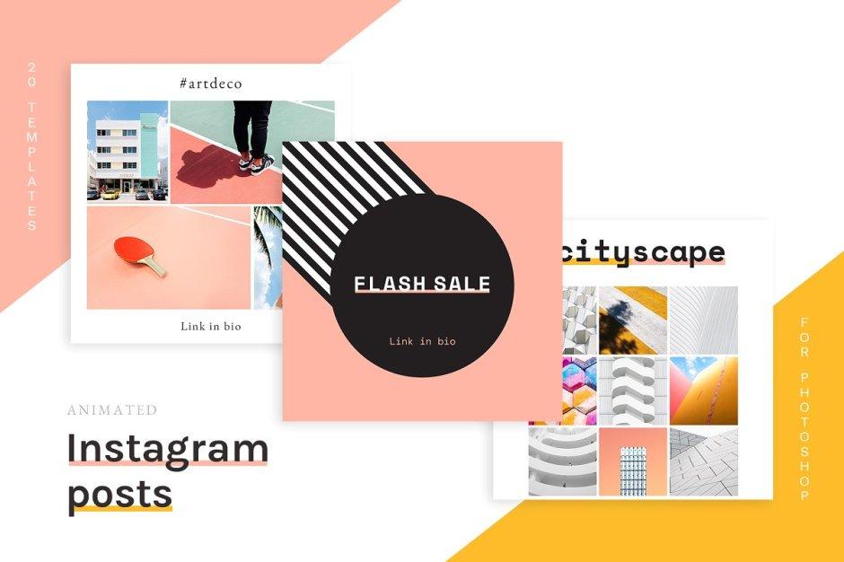 Animated Instagram Post templates
