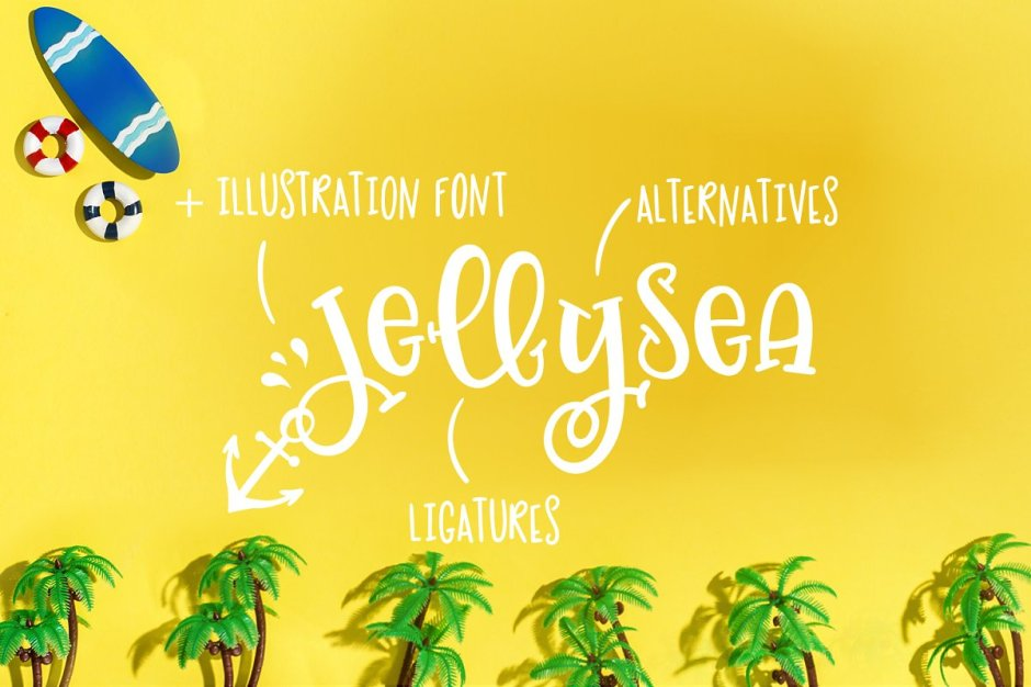 Jellysea - Font Duo + Summer Doodles - Art, Fonts and Calligraphy, Typography, Handwritten Fonts, Alphabet Fonts, Free Fonts, Script Fonts, Modern Fonts, Cursive Fonts, Design Fonts, Rustic Fonts, Calligraphy Fonts, Simple Fonts, Serif Fonts, Elegant Fonts, Professional Fonts, Beautiful Fonts