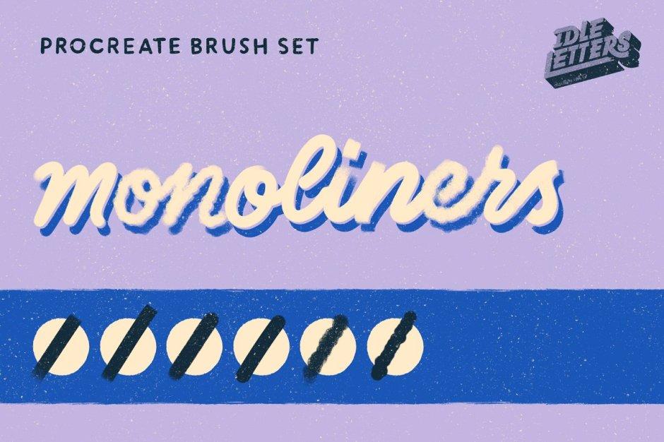 Monoliners Procreate Brush Set