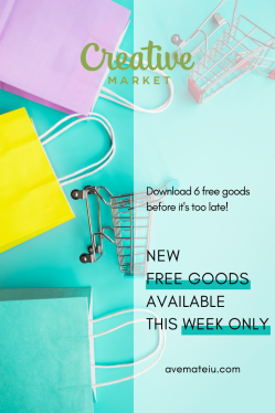 New Free Goods, Available This Week Only @CreativeMarket