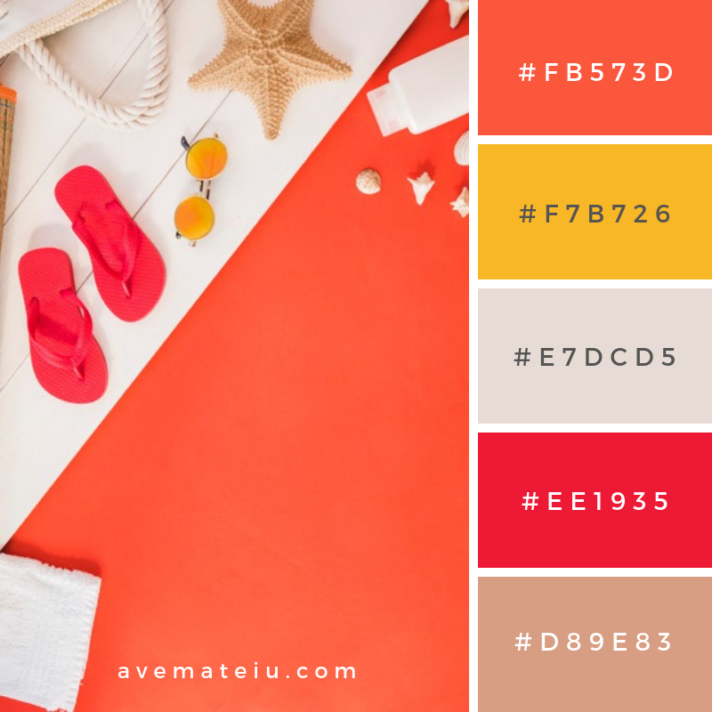 Summer Color Palette #11 - color combination, color inspiration, color palette, color palettes, color scheme, color schemes, design, Fashion, hex codes, pantone summer color palette, summer
