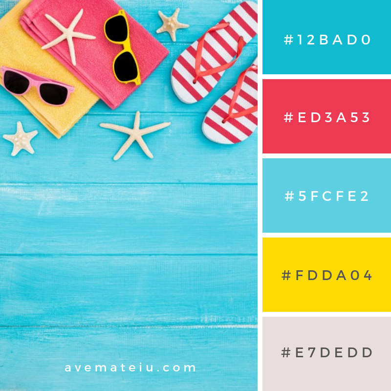 Summer Color Palette #15 - color combination, color inspiration, color palette, color palettes, color scheme, color schemes, design, Fashion, hex codes, pantone summer color palette, summer