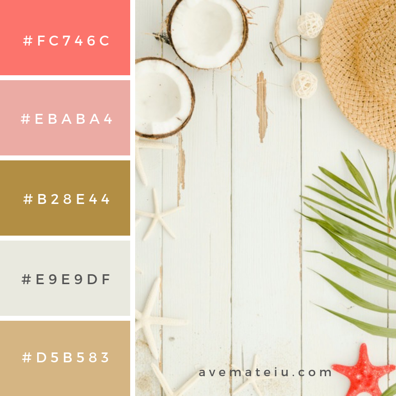 Summer Color Palette #16 - color combination, color inspiration, color palette, color palettes, color scheme, color schemes, design, Fashion, hex codes, pantone summer color palette, summer