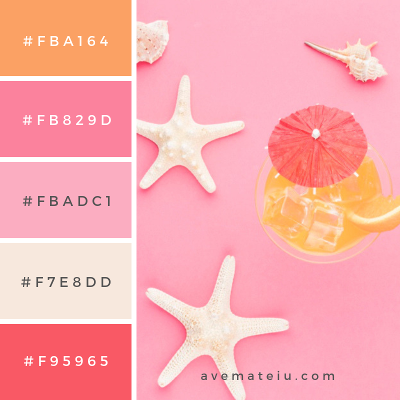 Summer Color Palette #2 - color combination, color inspiration, color palette, color palettes, color scheme, color schemes, design, Fashion, hex codes, pantone summer color palette, summer